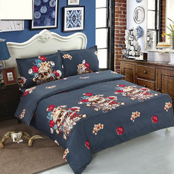 Amazing Skull 4 Pcs Bedding Set for Twin Queen King Sizes