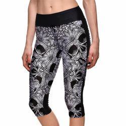 Women's High Quality Breathable Skull Leggings