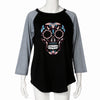 Plus Size Women's Skull Printed Top