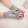 Skull Knitted Fingerless Gloves