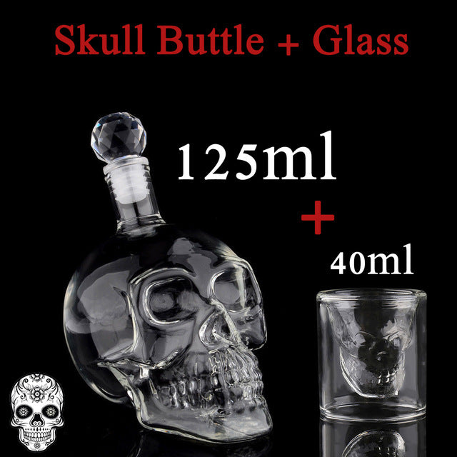 Vodka Skull Decanter with Skull Glass 125ML 350ML 550ML 1000ML