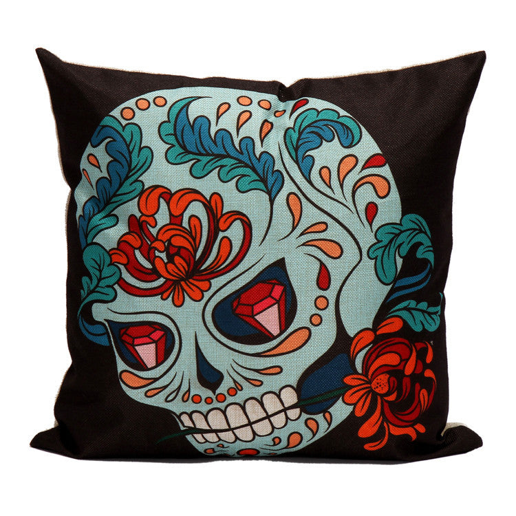 Fancy Skull Cushion Cover
