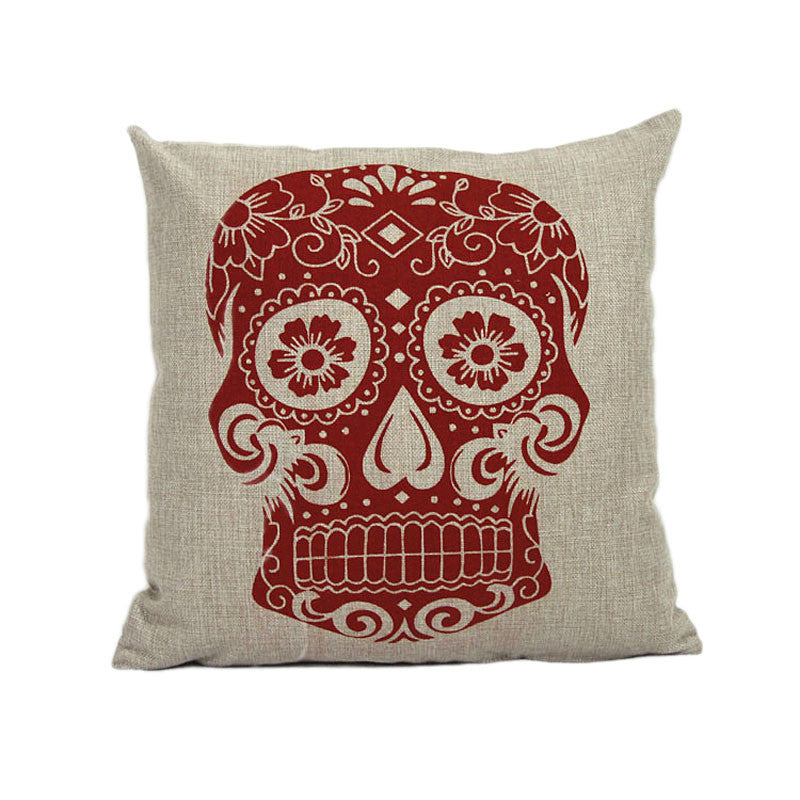 New Vintage Skull Cushion Cover