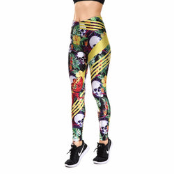 Fabulous Skull Printed Leggings for Women