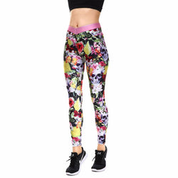 Stunning Colorful Hot Skull Leggings