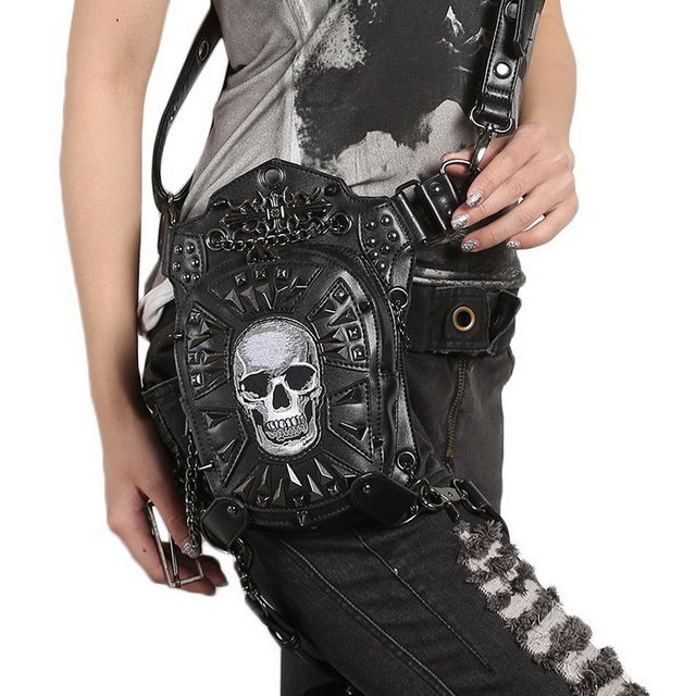 Fashionable Unisex Motorcycle Skull Multi-Use Bag