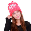 Women's Warm Skull Crochet Wool Knit Beanie