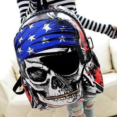 Pirate Skull Printed Unisex Backpack