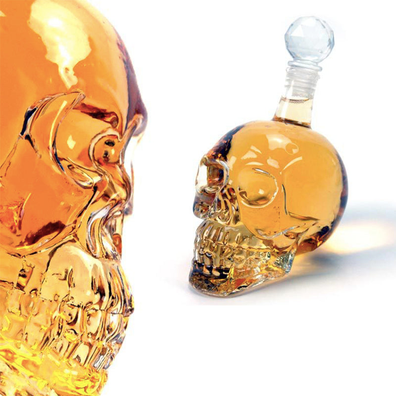 Impressive 3 Sizes Crystal Skull Head Decanter
