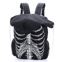 Multifunction Unisex Skull Skeleton Printed Backpack