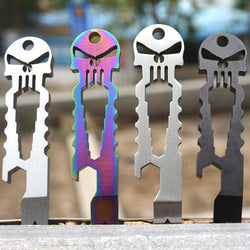Stainless Steel Skeleton Multi Functional Keychain Tool