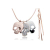 Trendy Multiple Skulls Necklace