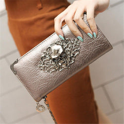 Hot Fashion Metal Skull Women's Wallet