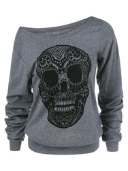Skull Oversized Hooded Pullover - Hoodies Autumn 2018