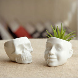 Mini skull and smile plants pots