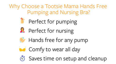 Tootsie Mama Pumping Bra benefits
