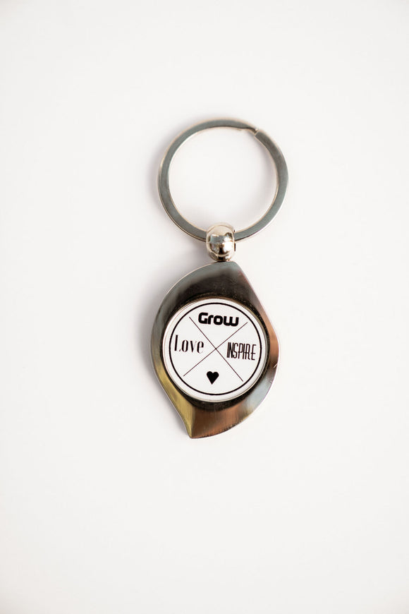 Love Grow Inspire | Keychain