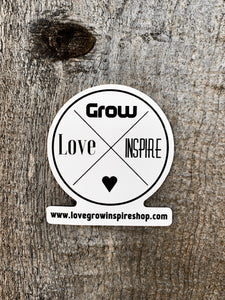 Love Grow Inspire | Sticker