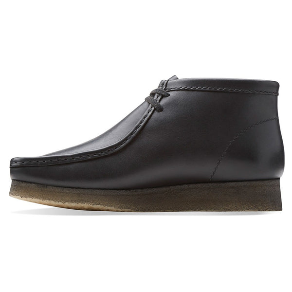 CLARKS Men's Wallabee Boot Black Leather
