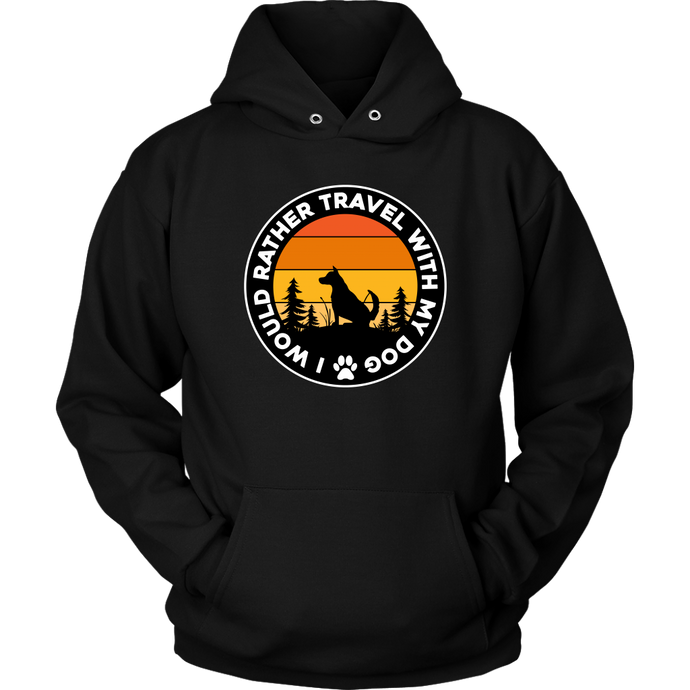 Travel With Dog Unisex Hoodie