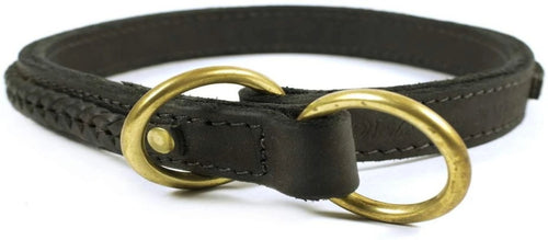Braided Leather Choke Collar - M&W CANINE SHOP