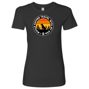 Travel  W/Dog Women's Shirt
