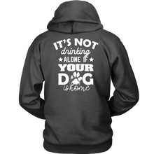 Load image into Gallery viewer, Drinking Alone Unisex Hoodie