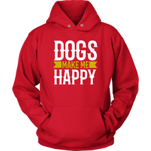Load image into Gallery viewer, Dogs Make Me Unisex Hoodie