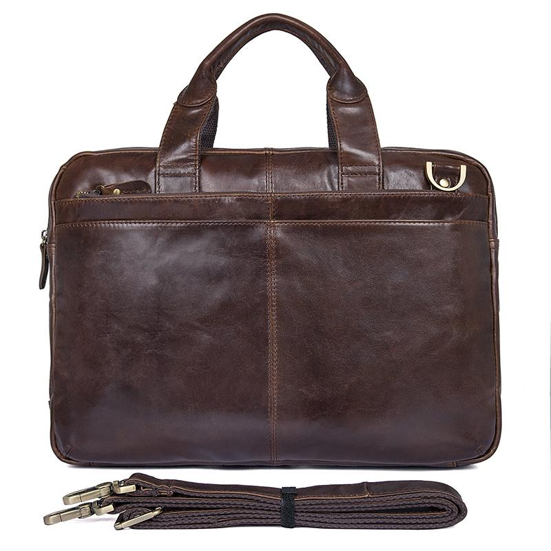f99f0e20ea6b Clean Vintage Leather Business Briefcase for Men