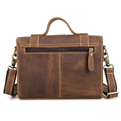 Apparel - Clean Vintage Leather Sling Shoulder Messenger Bag Men Women