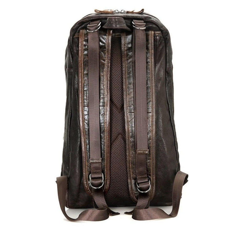 Backpack Hiking Daypack- Big Capacity- Cowhide Leather -Coffee