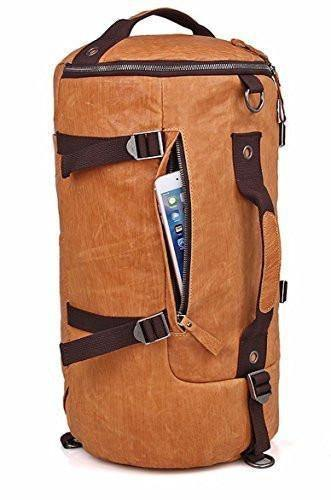 Backpack Messenger Duffle Travel Hiking Camping Gym Sport Bag Real Leather - Sale