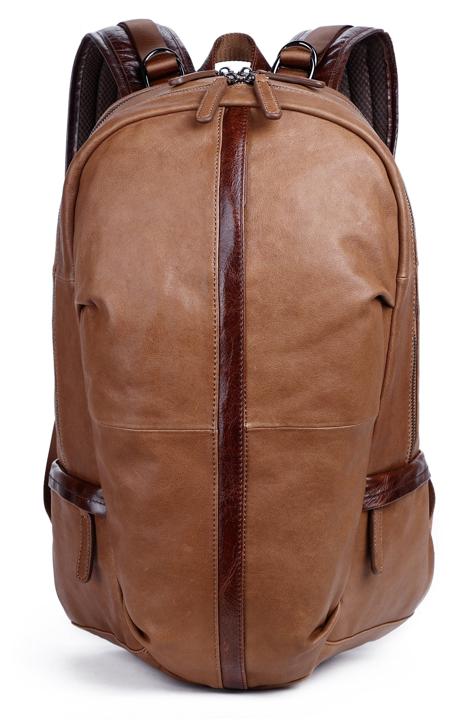 f395ca579674 Men s Leather Backpack Big Capacity College 17  Laptops - Clean Vintage