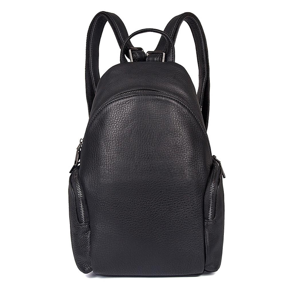 17b4621dd9 Small Backpack Purse for Women Genuine Leather Black - Clean Vintage -  Clean Vintage