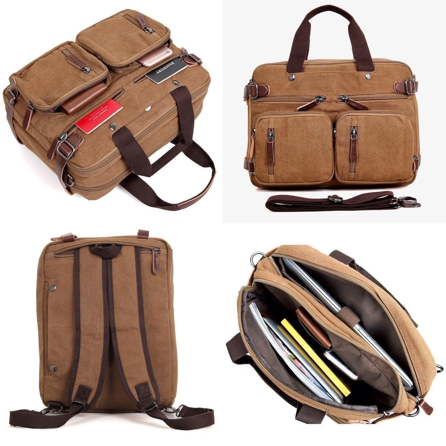 Clean Vintage Convertible Bags Briefcase Backpack Messenger Bag for Men  Women - Clean Vintage 22a805adc37dc