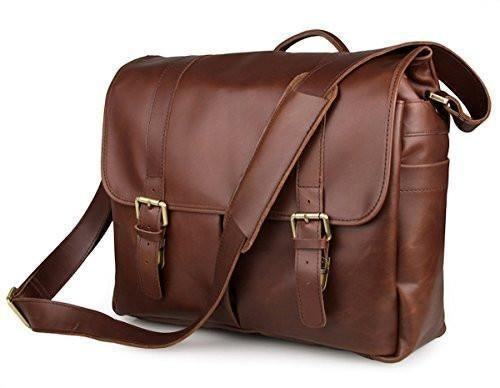 DSLR Camera 13-inch Laptop Bag Leather Vintage Gift for Him Her