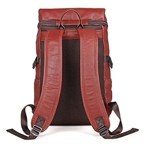 Leather Backpack Daypack Hiking Travel Leather Bag Teens Women Men
