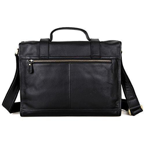 "Clean Vintage Men/Women Satchel Briefcase Tablet Messenger Bag- Fits 13""/13.3"" Laptops, Leather"