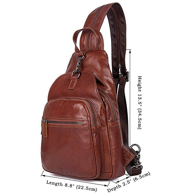 Clean Vintage Brown Hybrid Backpack Messenger Bag / Convertible Leather Bag / Gift for Him Her