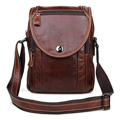 Shoulder Bag - Mens Leather Work Bag Travel Cross Body Shoulder Sling Small Messenger Bag