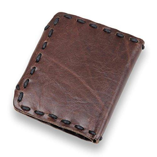 Men's Genuine Leather Wallet Cards Holder, Retro Short Wallet, Clean Vintage