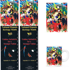 Hispanic Heritage Bookmarks, Buttons, Mugs and Magnets