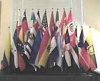 Hispanic Country and USA 12x18 Flag Set with Stands ..OM -  DiversityStore.Com®