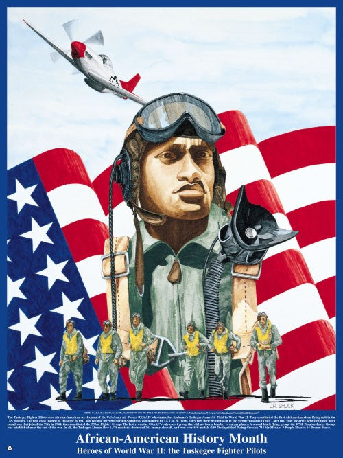 Item# B03 African-American History Month Heroes of World War II- The Tuskegee Fighter Pilots Poster (GSA) -  DiversityStore.Com®
