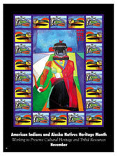 Item# AI04B Buttons, Bookmarks & Magnets - American Indians - Working to Preserve Cultural Heritage ..OM -  DiversityStore.Com®