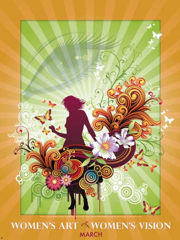 Item# WH8 National Women's History Month Women's Art - Women's Vision Poster.(GSA)