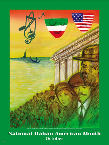 Item# IA1K Italian American Bookmarks, Buttons and Magnets...OM -  DiversityStore.Com®