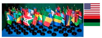 Item# A153 African American Flag Set Complete Includes US & African American Flags - 55 Flags .. OM