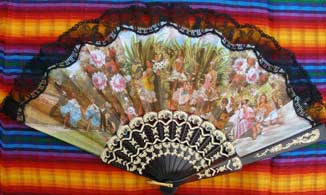 Spanish Fan Flamenco Scene