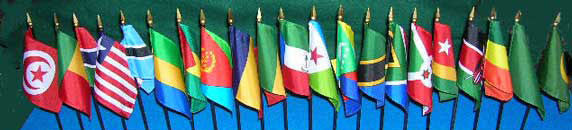 Item# AFNS African Flag Set - 21 African Country Flags No Stands included  .. OM -  DiversityStore.Com®
